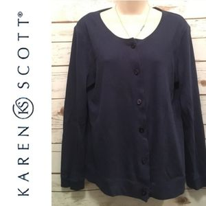 Karen Scott Navy Blue Sweater
